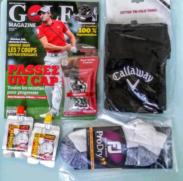 Aperçu du coffret cadeau golfeur my golf box
