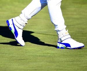 chaussures-montante ignite puma golf bleu