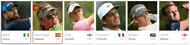 Ma sélection de joueur pour le BMW PGA Championship