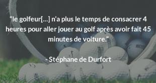 Interview directeur de golf