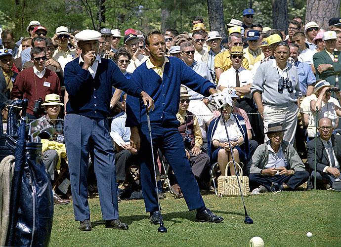 Ben Hogan et Arnold Palmer à l'époque