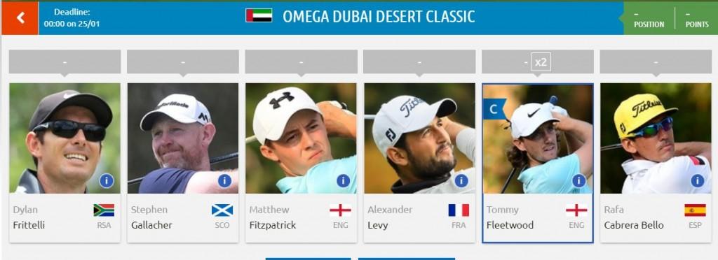 Mes pronostics pour le Omega Dubai Desert Classic