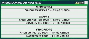 programme tele the masters