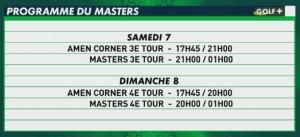 programme télé golf plus the masters