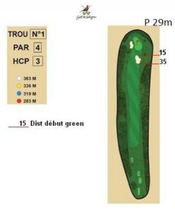 carnet de parcours trou 1 golf de sologne