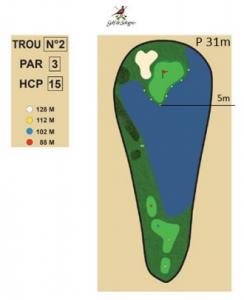 carnet de parcours trou 2 golf de sologne