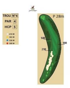 carnet de parcours trou 4 golf de sologne