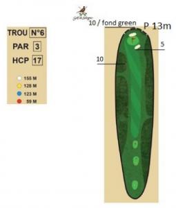 carnet de parcours trou 6 golf de sologne