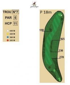 carnet de parcours trou 7 golf de sologne