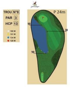 carnet de parcours trou 8 golf de sologne