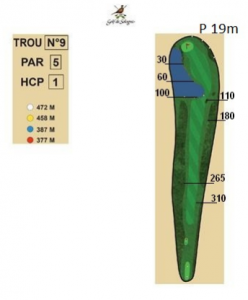carnet de parcours trou 9 golf de sologne