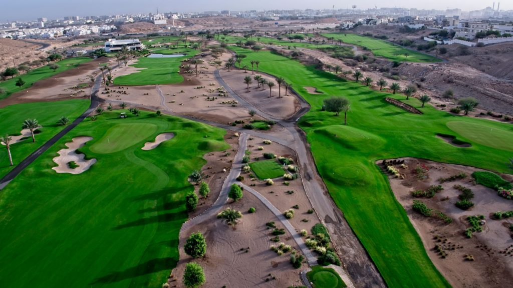 View from above Ghala course, Oman