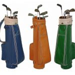 Traditional Shape Leather golf bag