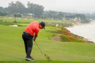 Viktor Hovland à Pebble Beach lors de l'US Open 2019
