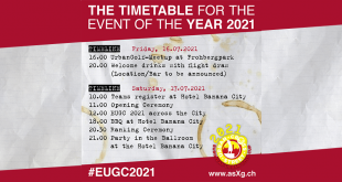 The agenda of the event